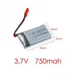 Accu 3,7V 750mAh Drone MJX X400 / X800