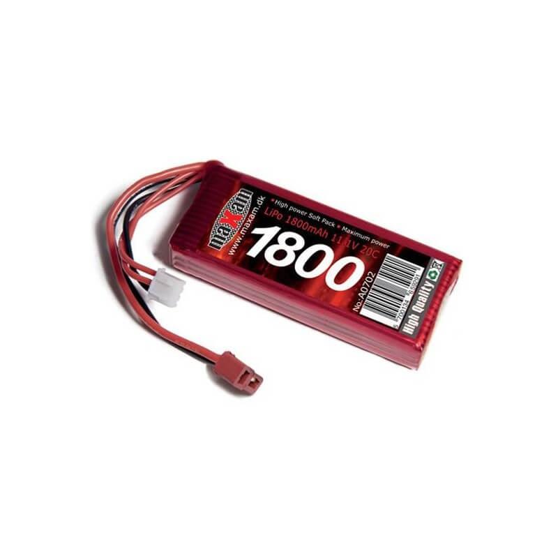 Accu LiPo 20C 11.1V 1800mAh Maxam