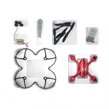 Crash kit Rouge Hubsan X4 H107C - HD avec Tee shirt