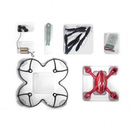 Crash kit Rouge Hubsan X4 H107C - HD avec Tee shirt