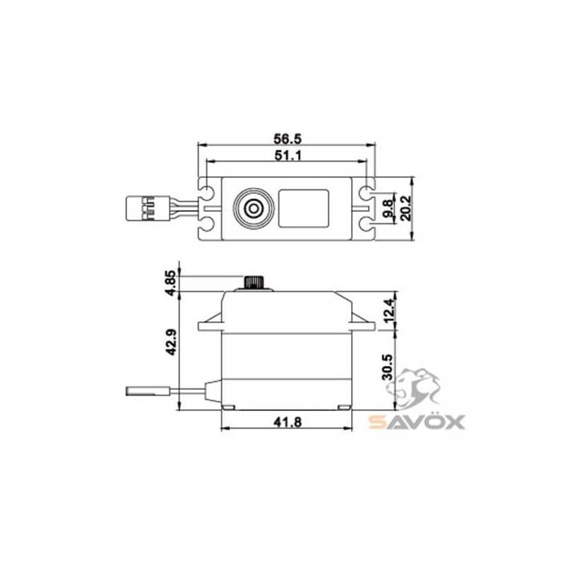 Savox Servo SW-0231MG Waterproof 15kg 0.17s Métal