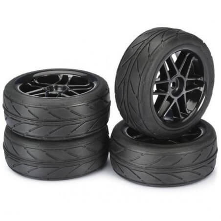 4 roues AV/ARR Piste noire 1/10