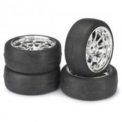 4 roues AV/ARR Piste chrome 1/10 Absima 2510010