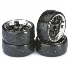4 roues Drift AV/ARR chrome 1/10 Absima 2510040