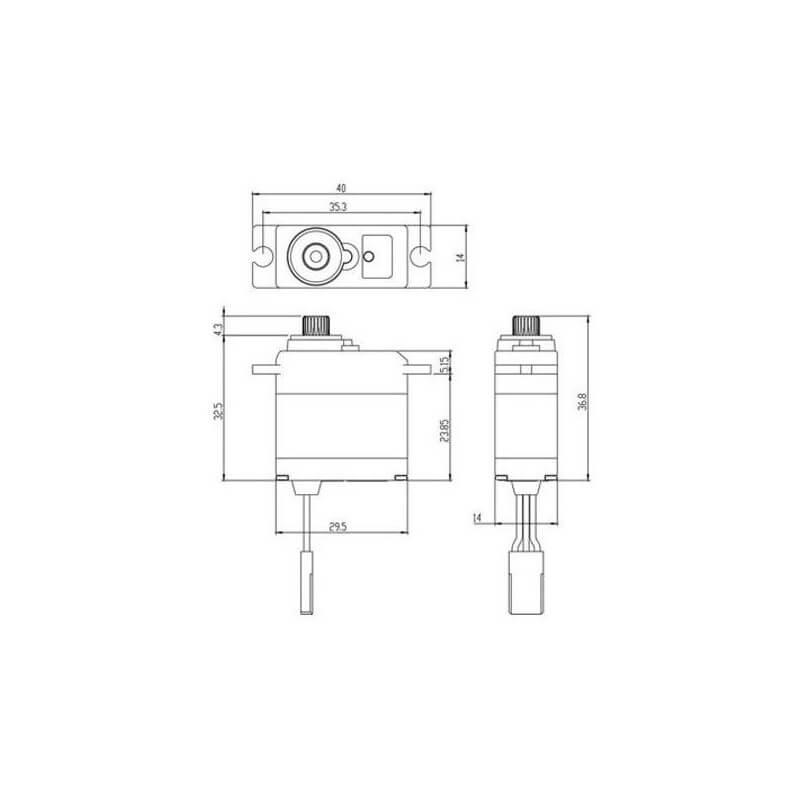 Savox Mini Servo Waterproof SW-0250MG 5kg 0.11s Métal