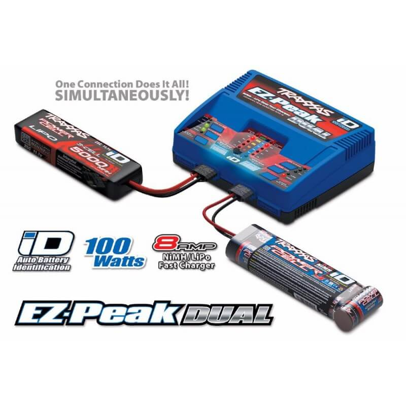 Traxxas Chargeur Rapide Double Sortie Lipo/Nimh iD 100W 2972G