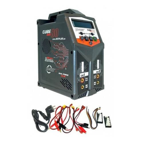 Combo BZHModelisme - Chargeur DUO + 2 Accus Lipo 11,1V 5000 mAh