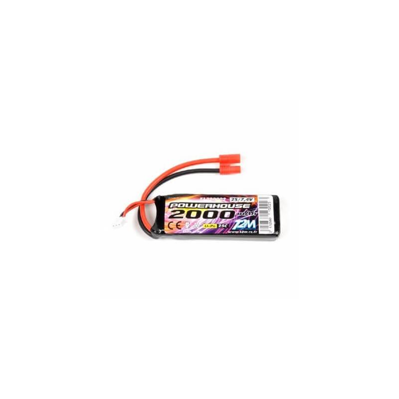 T2M T1320002 Batterie LiPo 2S 7.4v 2000mAh 25C SPYRIT FPV MAX