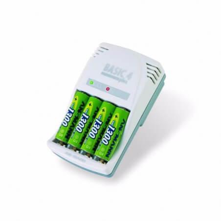 Chargeur de piles AA, AAA ou V9 Basic 4