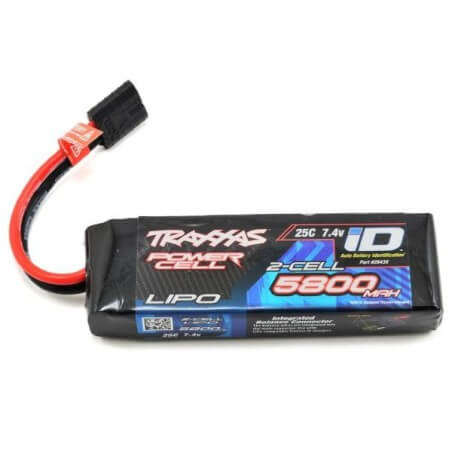 Batterie Lipo 7,4V 5800 mAh 25C Traxxas ID 2843X