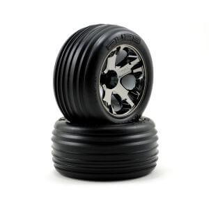 2 roues Rustler Alias 2.8 All-Star Black Chrome - Traxxas TRX3771A
