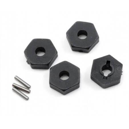 Hexagones de roues + goupilles (4) - Traxxas 7154