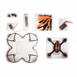 Crash kit Hubsan X4 H107 Matt black -  avec Tee shirt