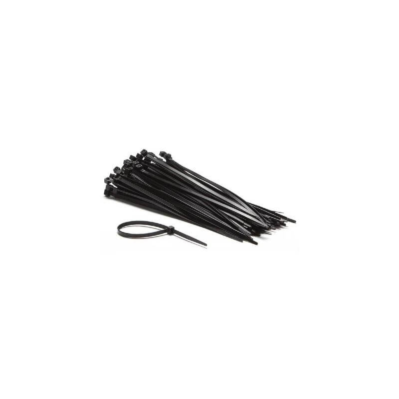 Colliers nylon noir 2,5x200mm (20 pcs)