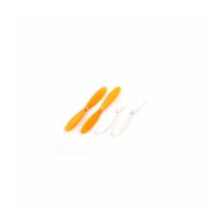 Hélices Blanche et Orange pour drone UDI U843