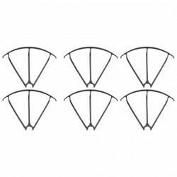6 Protections hélices NOIRE MJX X600