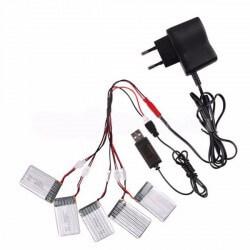 Chargeur 5 batteries Prise 220V, Hubsan, T2M, Syma....