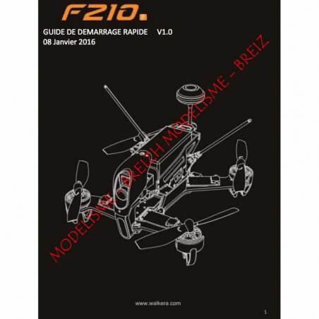 Notice compléte en Franéais du Walkera F210 - Envoi par courrier