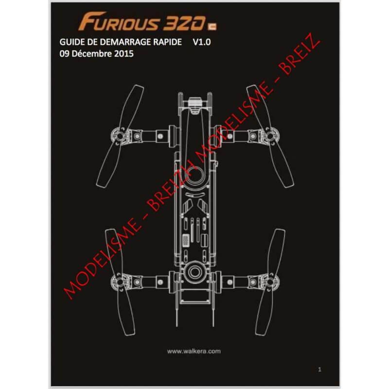 Notice compléte en Franéais du Walkera F320 FURIOUS - Envoi par courrier