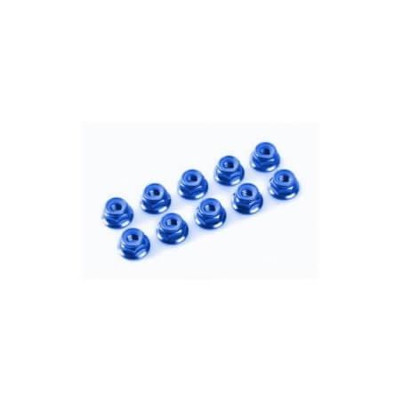 10 Ecrous Hexagonal M2 Acier Bleu