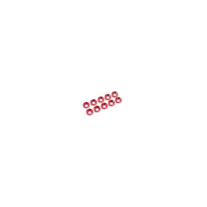 Rondelles M4 Vis Conique ALU ROUGE GF-0405-045