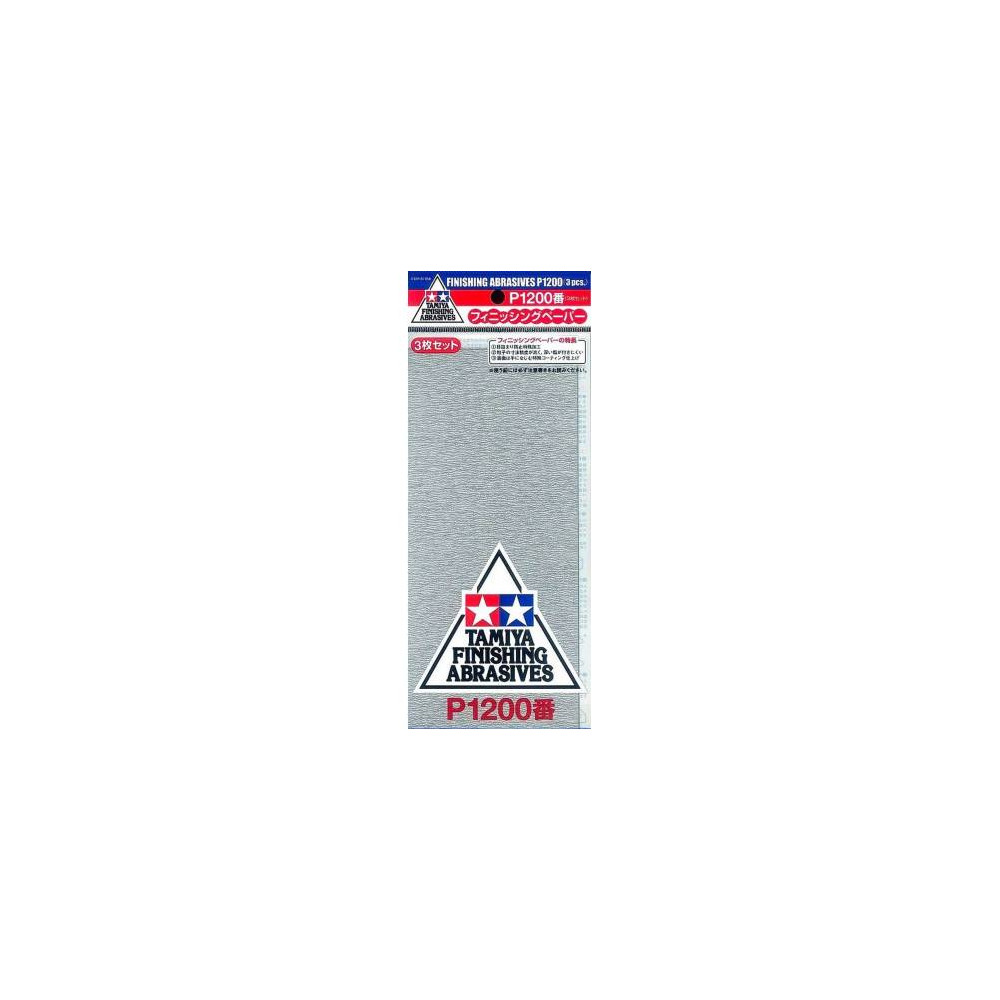 TAMIYA 87058 Papier Abrasif P1200 Finishing Abrasives P1200-3 sheets