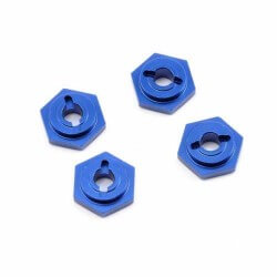Hexagones de roues (4) Alu bleu - Traxxas 7154X