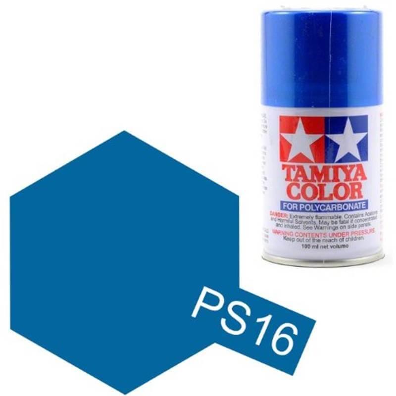 Peinture Lexan PS16 Bleu Metallisé Tamiya 86016