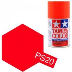 Peinture Lexan PS20 Rouge fluo Tamiya 86020
