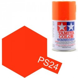 Peinture Lexan PS24 Orange Fluorescent Tamiya 86024