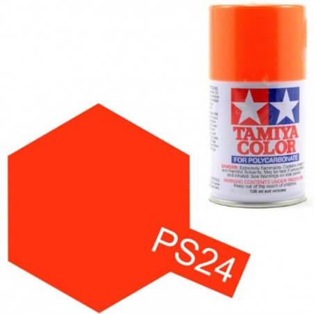 Peinture Lexan PS24 Orange Fluorescent Tamiya 86024