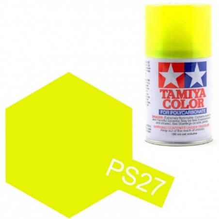 Peinture Lexan PS27 Jaune fluo Tamiya 86027