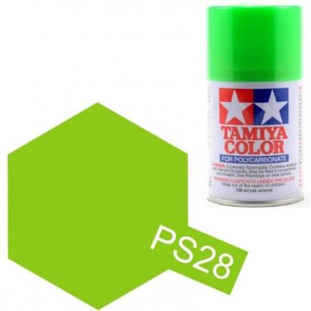 Peinture Lexan PS28 Vert Fluo Tamiya 86028