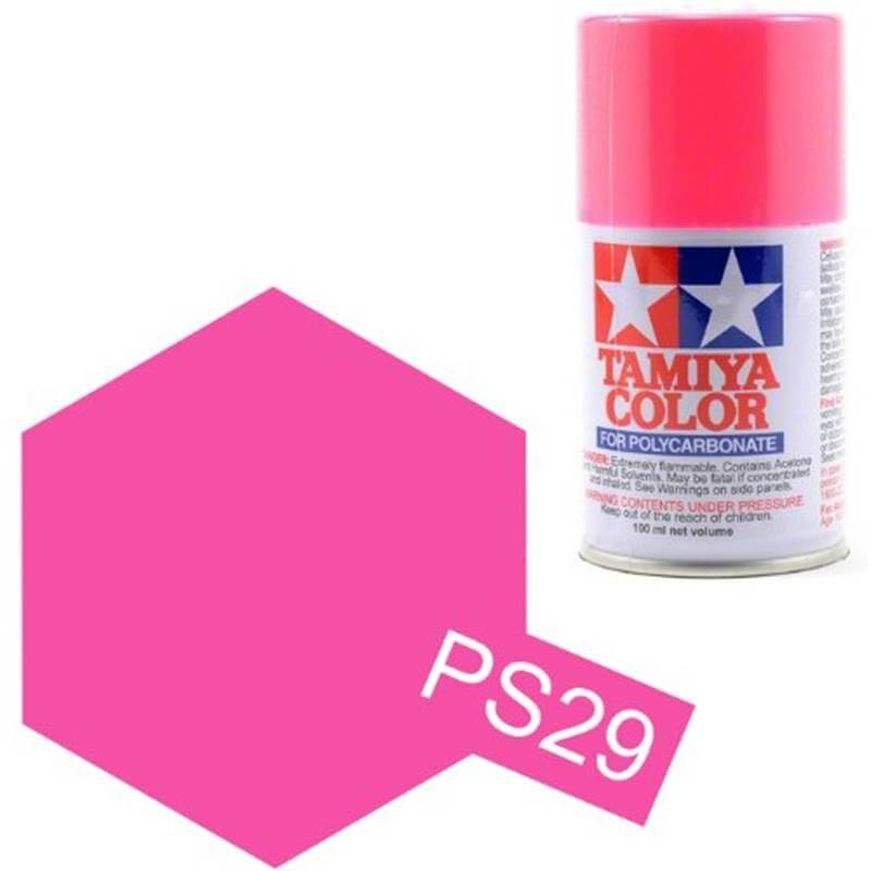 Peinture Lexan PS29 Rose Fluo Tamiya 86029