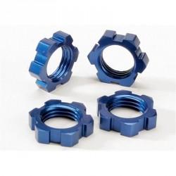 écrous de roues alu 17mm anodisés bleu x4 Traxxas 5353