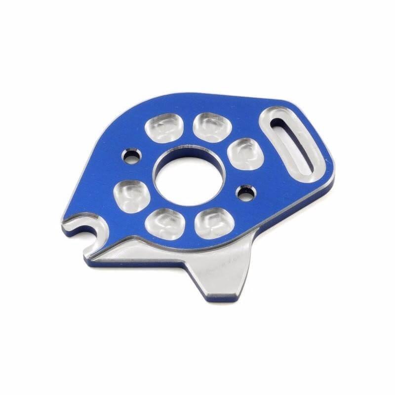 Plaque moteur 6061-T6 alu anodisée bleu Traxxas 6890X