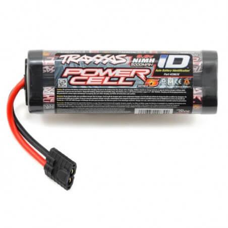 Accu ID Power cell 9,6V Ni-Mh 5000mAh Traxxas 2963X