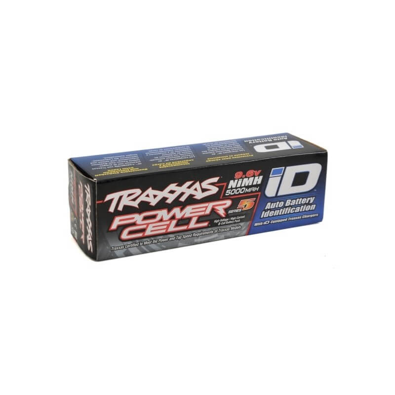 Accu ID Power cell 9,6V Ni-Mh 5000mAh Traxxas 2963X
