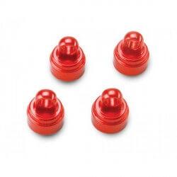 Bouchons d'amortisseurs alu anodisés Rouge x4 Traxxas 3767X