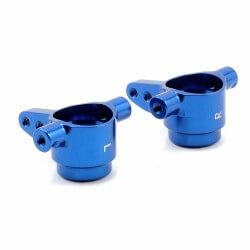 Fusées de direction G/D T6 Alu anodisées Bleu x2 Traxxas 6837x