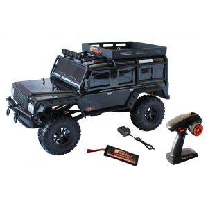Crawler RC 1/10 Kanyon DF4J - 4WD Noir - Nouvelle radio 5 voies