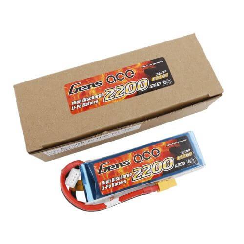 Batterie Lipo - 2200mAh 3S 30C - XT60 pour Bateau RC...