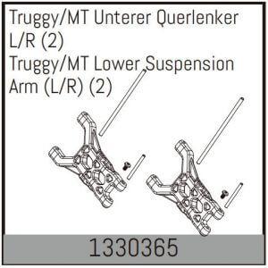 2 Triangulaires inférieur G/D  Truggy/MT - Absima 1330365
