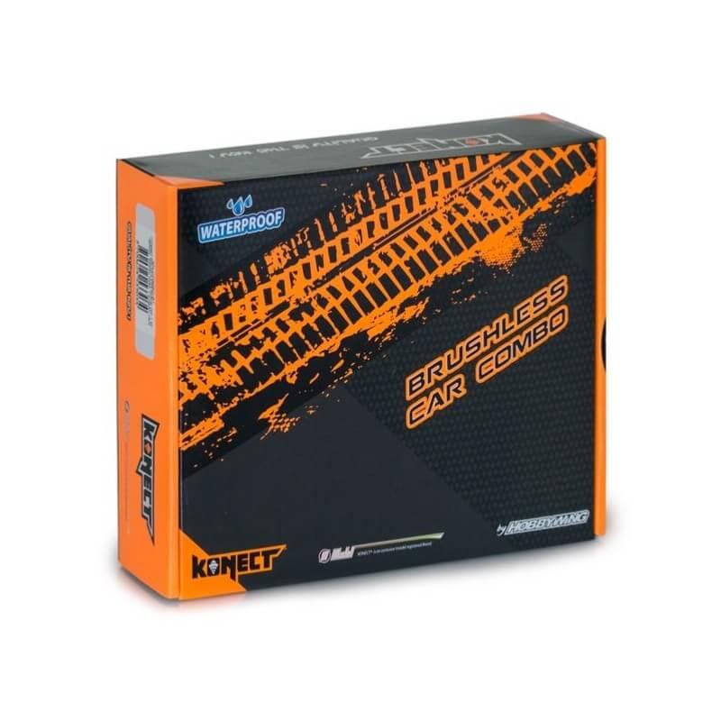 """Konect Combo Variateur Brushless 1/10"""" 50A Waterproof & Moteur 4000Kv"""