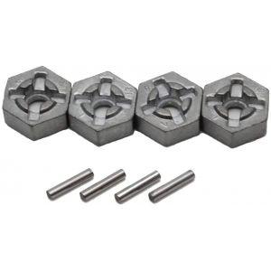 4 Hexagones aluminium + Clavettes MT-Twin - Funtek FTK-MT-TWIN-27