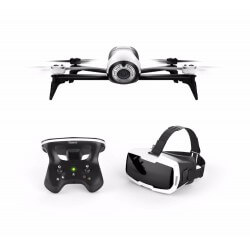 Drone avec Casque Parrot Bebop 2 FPV + Télécommande
