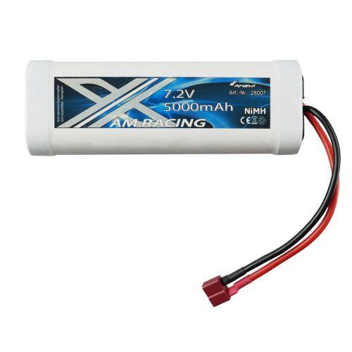 Batterie Nimh 7.2v 5000Mah Dean T Plug - 1859  (135x45x24mm)