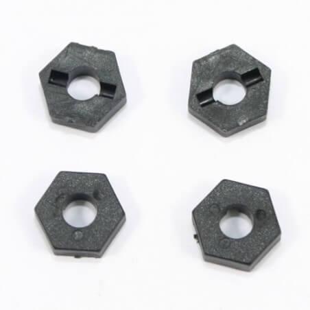 Hexagones de roues plastiques (4) Carnage / Vantage 1/10 -  FTX6224