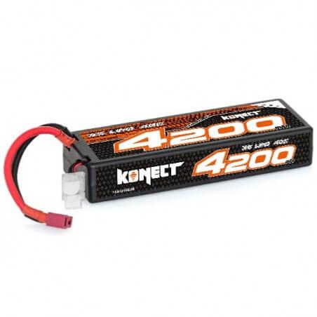 Konect Lipo 4200mah 11.1V 40C 3S1P (Slim Pack Dean)