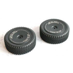 2 roues avant référence 7400 pour Buggy DF Model 3120 et Wltoys 144001